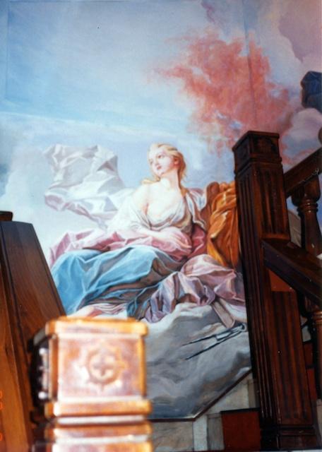店内の壁画、障壁画、模写