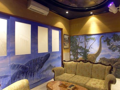 建具に壁画・光る天井画・建具デザイン染色