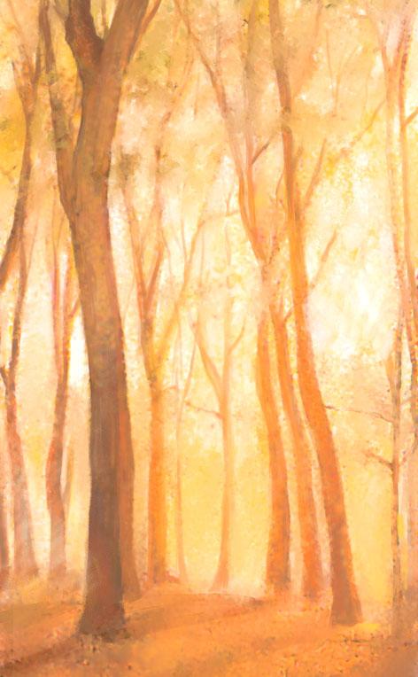 Painter で林の絵を描いてみる