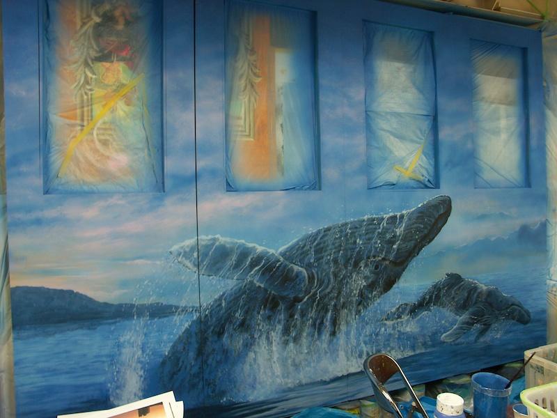 クジラの水しぶき