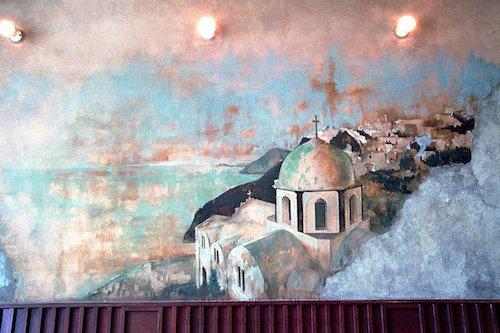 古びた持ち味の壁画