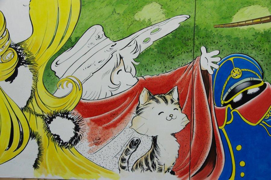 新谷小学校 松本零士 壁画 工程の記録